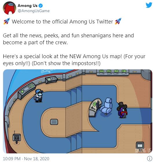 Первый взгляд на новую карту в Among Us