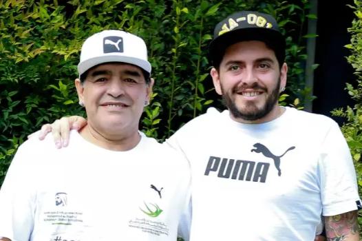 Дієго Марадона з сином