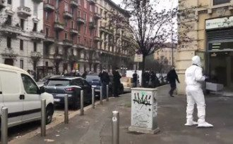 В Милане грабители захватили заложников в банке / скриншот из видео
