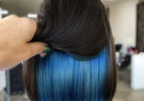 Скрытое окрашивание волос 2020