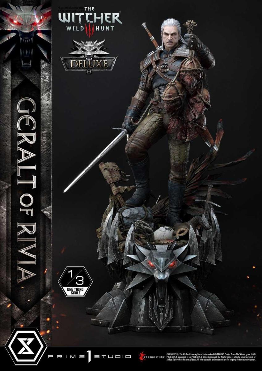 Компания Prime 1 Studios анонсировала уникальную статуэтку Геральта в его образе из Ведьмака 3