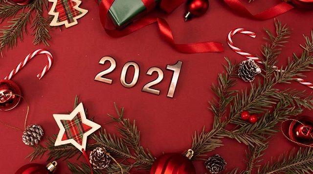 листівки з новим роком 2021