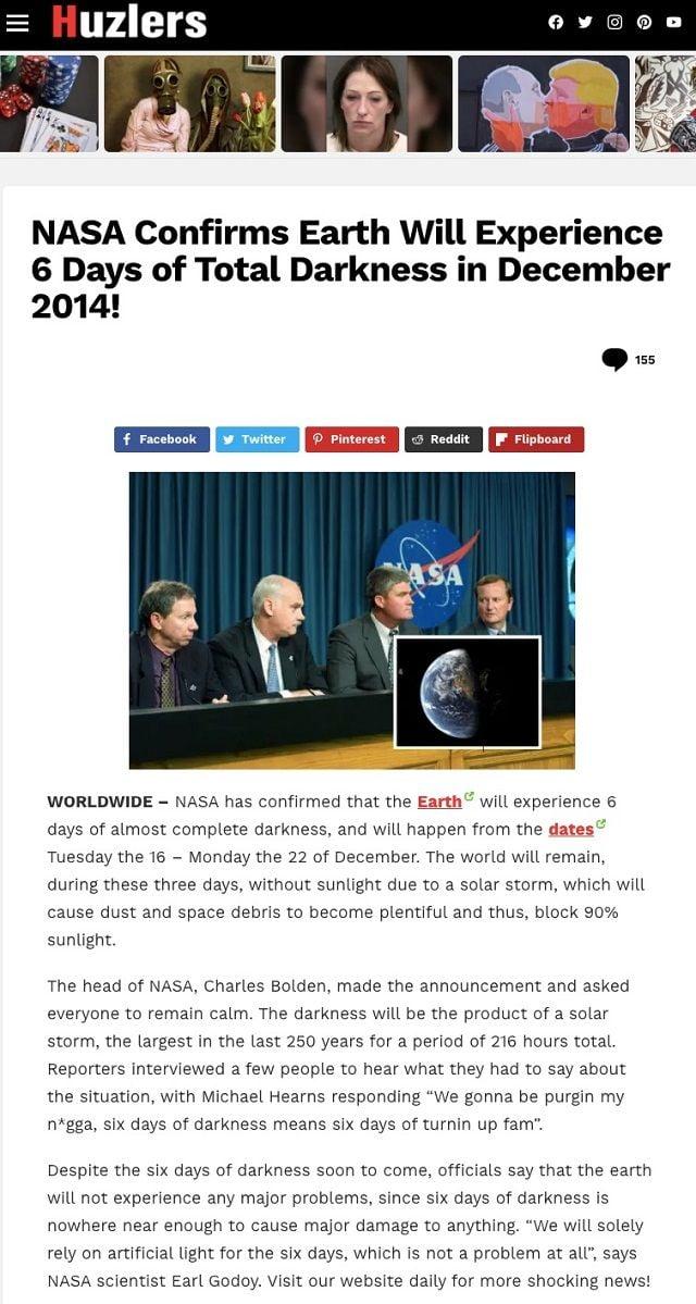 Земля на 6 днів зануриться в темряву з 16 грудня 2020-що відбувається