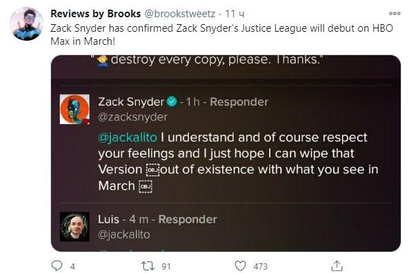 Зак Снайдер анонсировал раннюю премьеру Лиги справедливости
