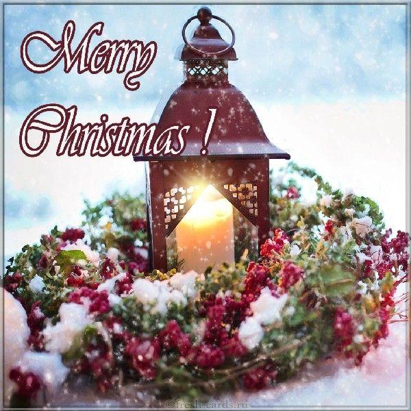 привітання з Різдвом англійською листівки