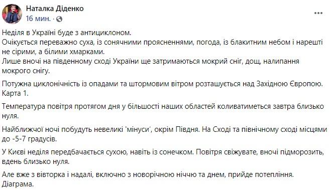 Украину накроет резкое потепление: синоптик рассказала о погоде на Новый год
