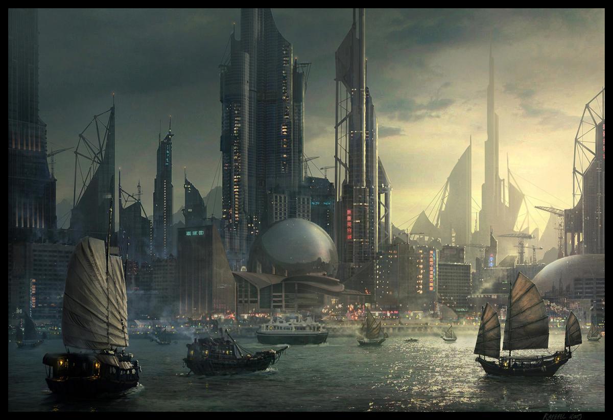 Концепт-арты отменённой игры в сеттинге киберпанка от Ubisoft