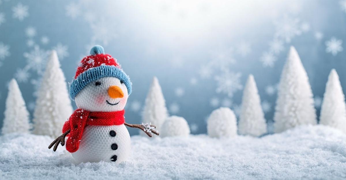 обои на рабочий стол новый год снеговик