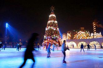 Київ, зима, каток