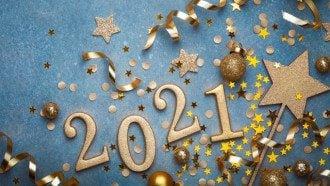 Листівки з Новим роком 2021 і привітання - 1 січня свято