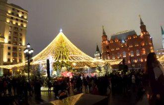 Московская елка 2019-2020. Очень похожа на украинскую / скриншот из видео