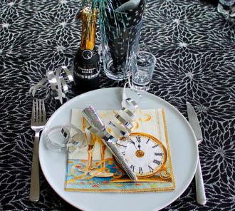 новый год, новогодний стол
