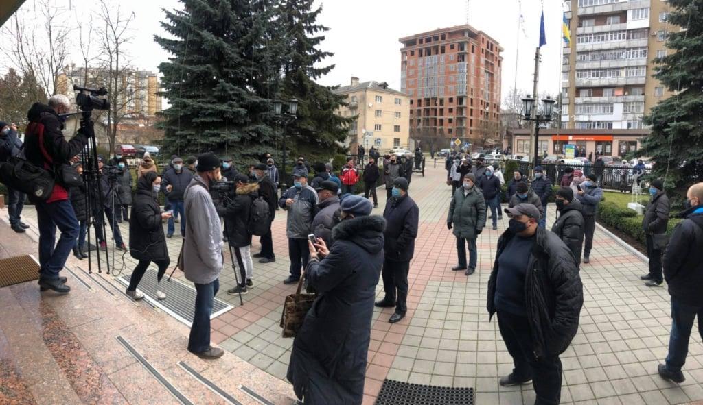 Акция протеста в Долине / kurs.if.ua