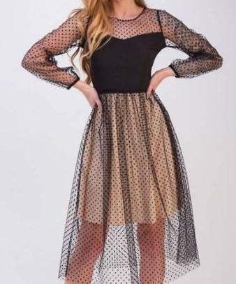 Прозрачные платья 2021