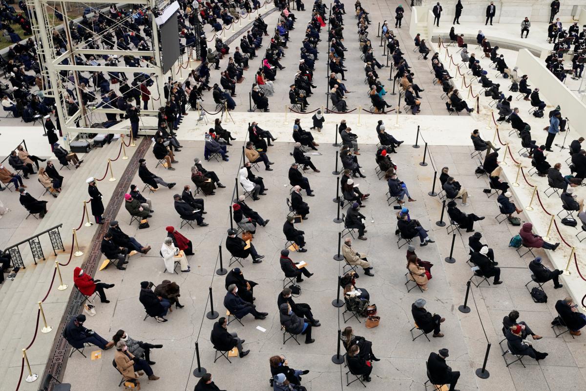 Инаугурация Байдена - меры безопасности / Reuters