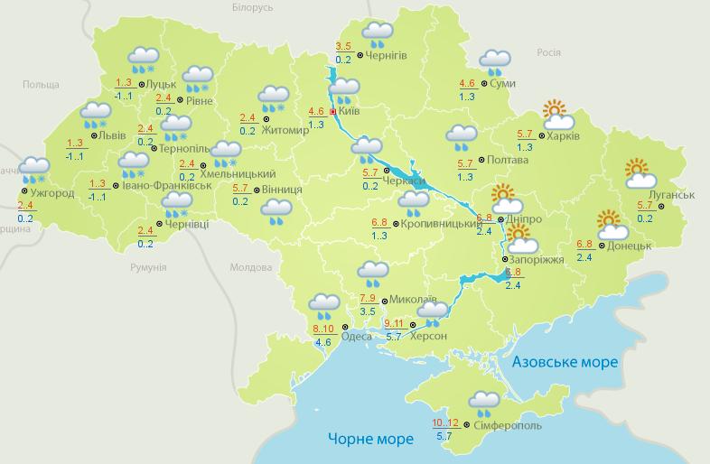 В Украину снова несутся мощные снегопады и мороз