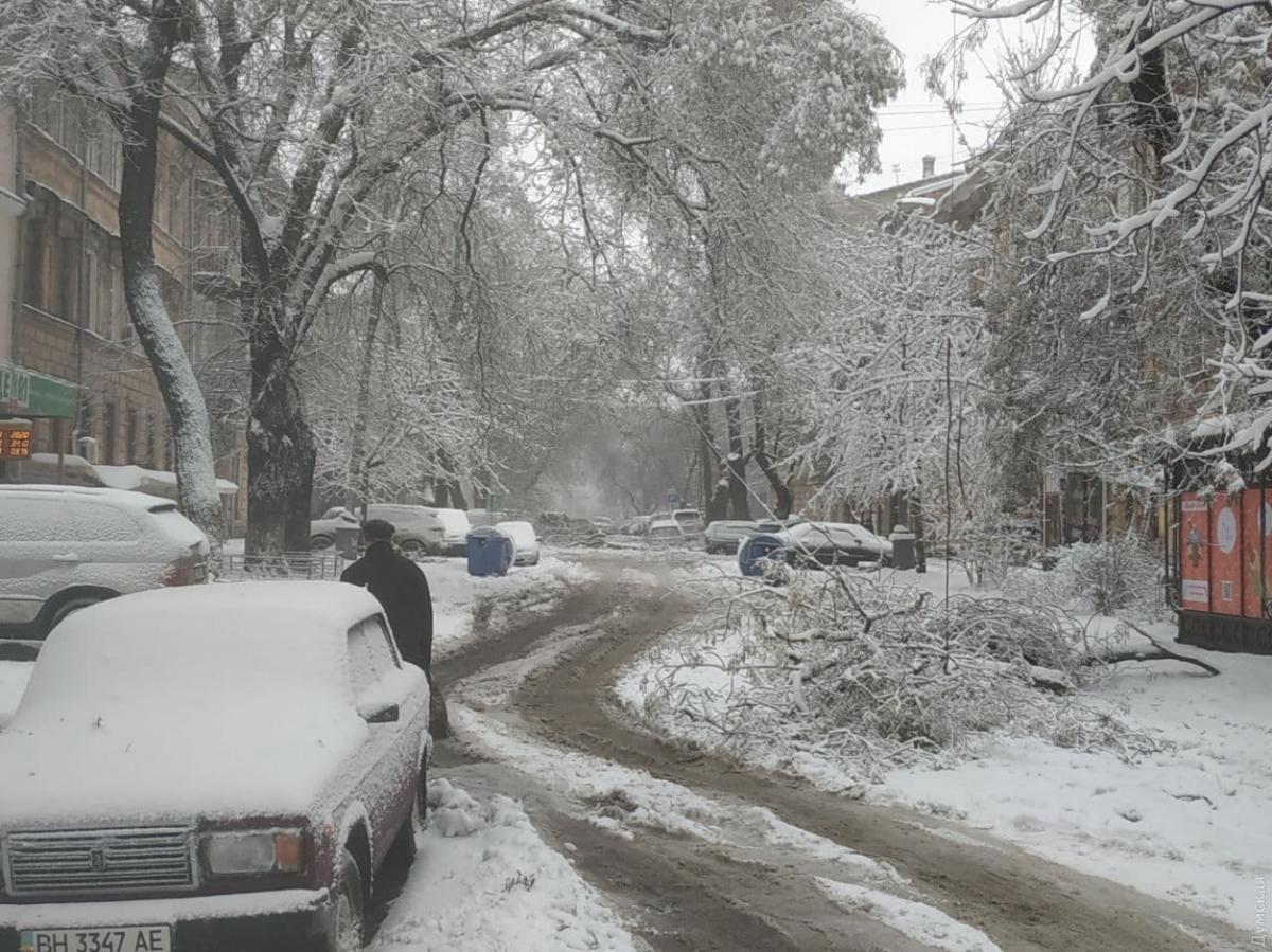 сніг, Одеса