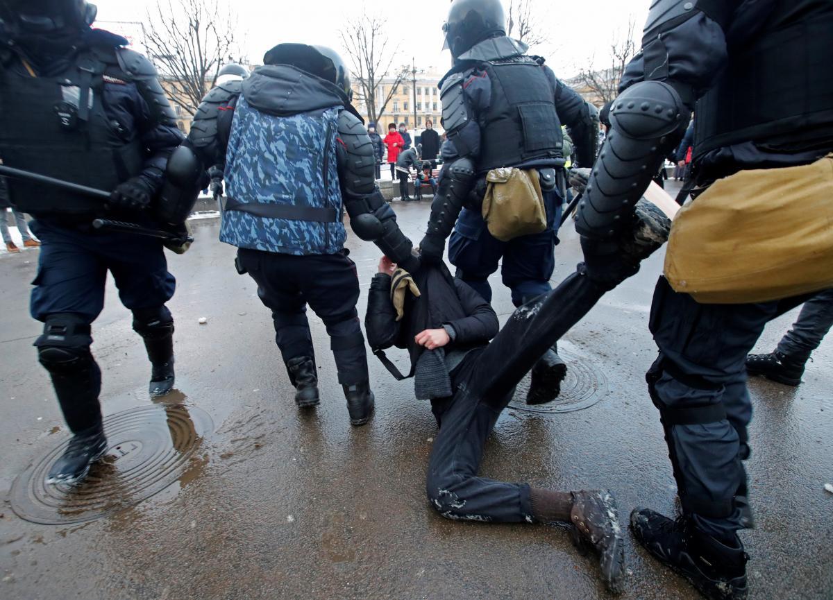 Протесты в России 31 января