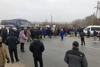 Протест в Лубнах из-за подорожания газа