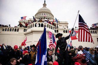Протесты в США сторонников Трампа
