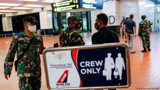 Военные в аэропорту Джакарты