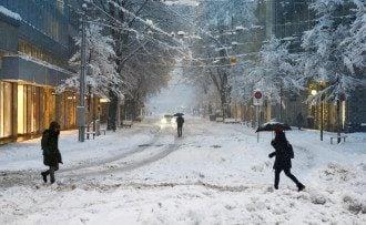люди,зима,снег