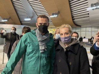 Навального задержали / Telegram-канал Mash