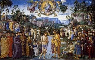 20 січня Свято Іоанна Предтечі що не можна робити прикмети Хрещення Христа картина П'єтро Перуджино