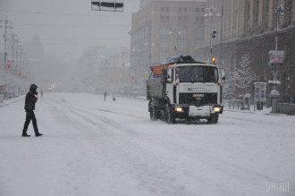 В Украину снова идет снегопад / УНИАН