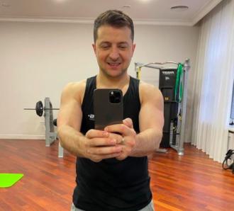 Зеленский опубликовал селфи из спортзала / Instagram