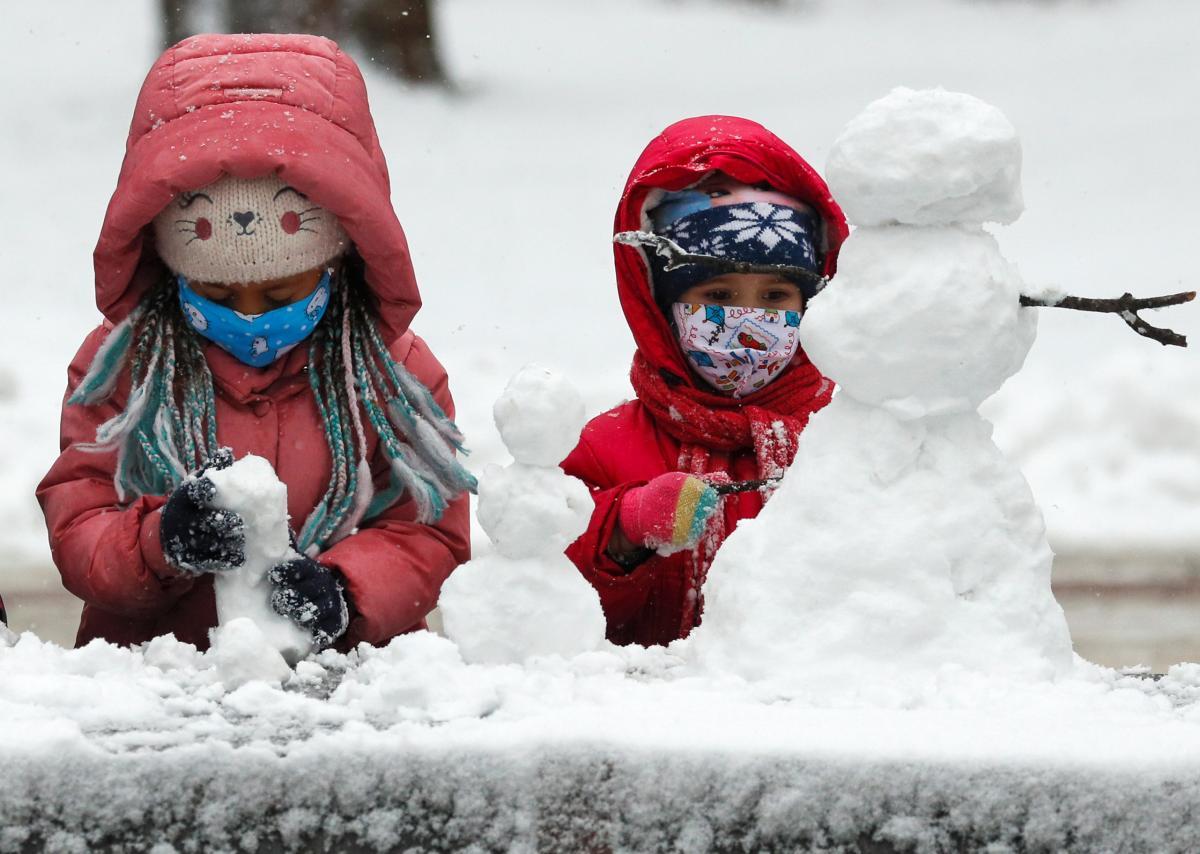 погода, зима, сніг, сніговик