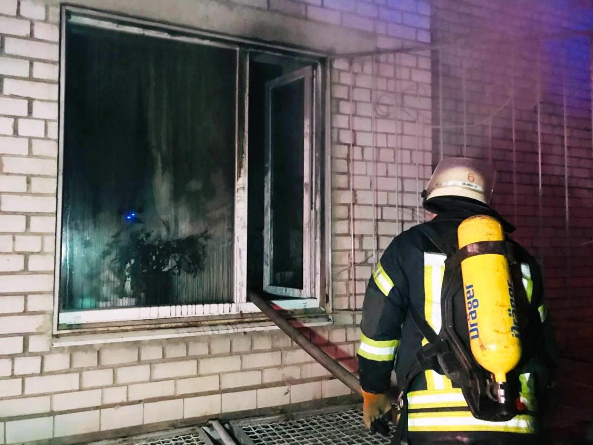 Пожежа в запорізькій обласній лікарні