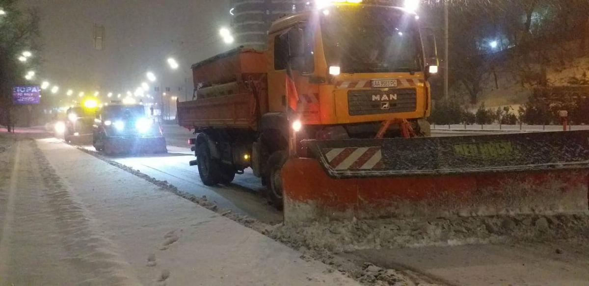 снег, коммунальники, Киев