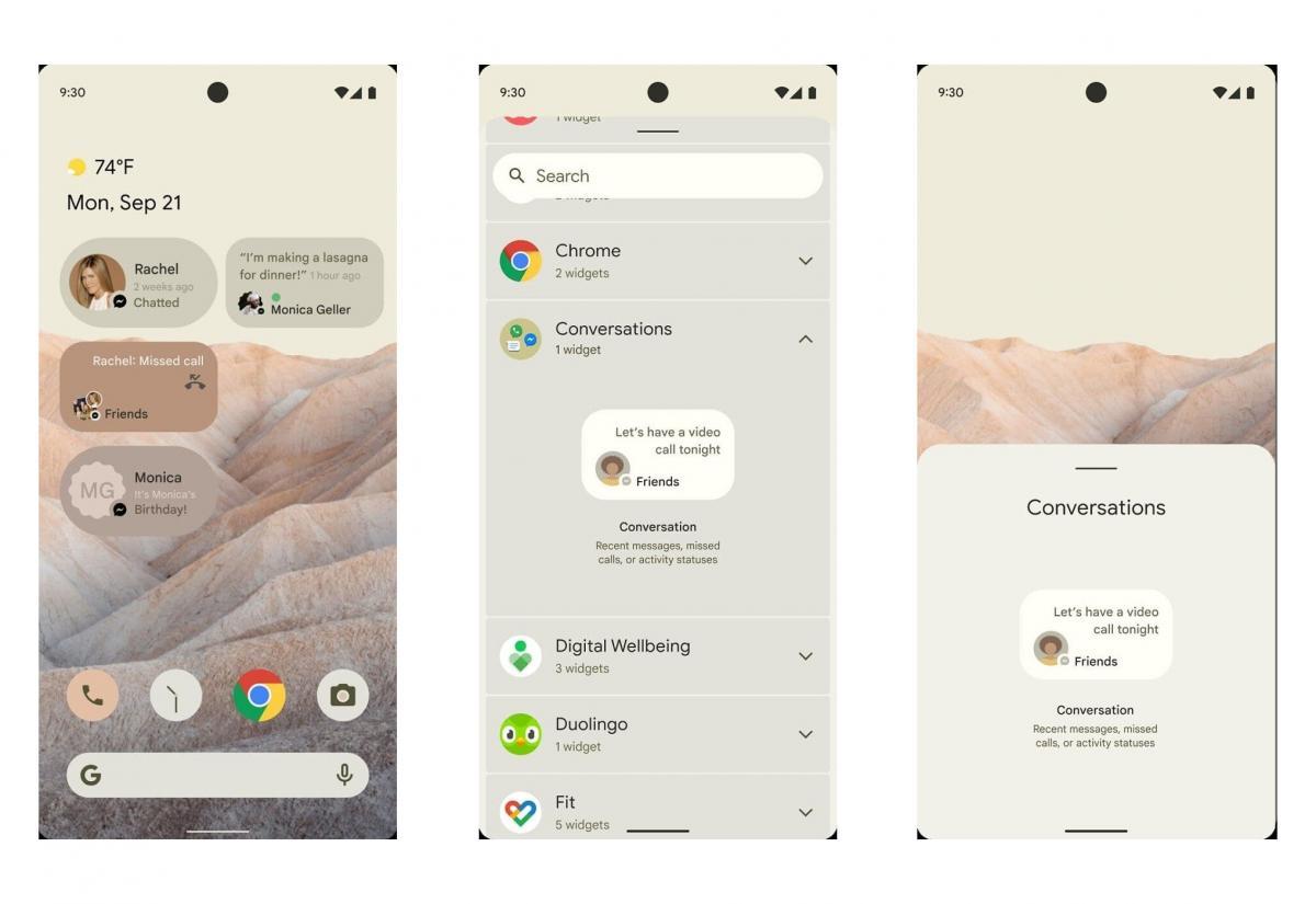 Первый взгляд на новый интерфейс Android 12