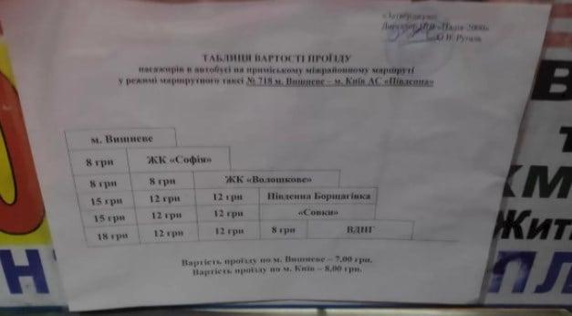Злетіли ціни на проїзд у маршрутках з передмістя до Києва