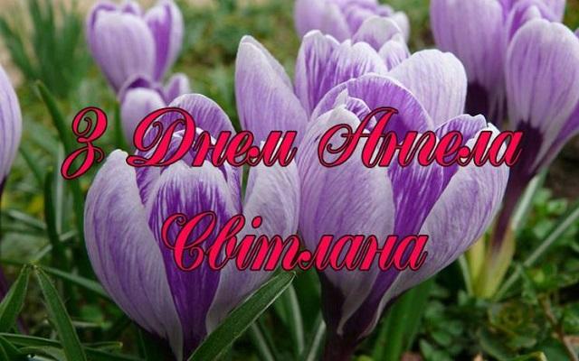 З Днем ангела Світлана іменини Світлани привітання, картинки та листівки українською мовою