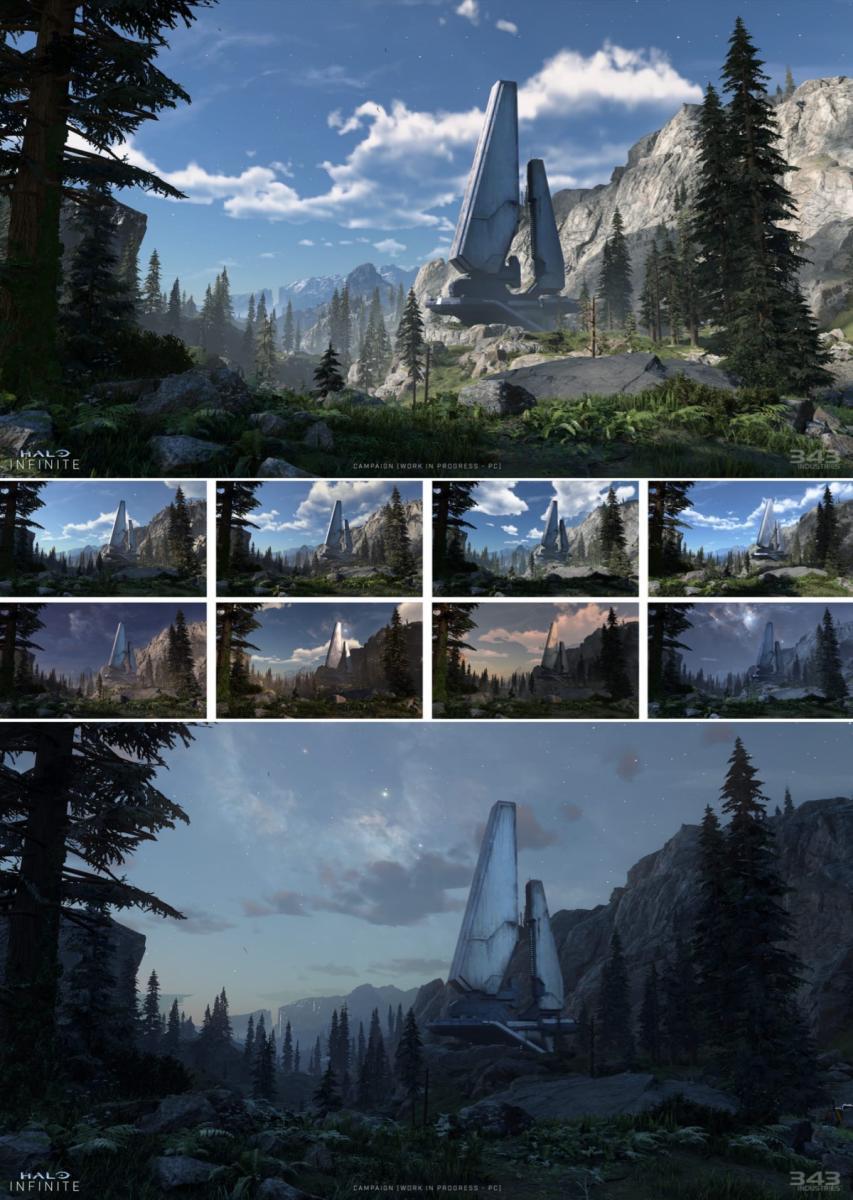 Авторы Halo Infinite показали новые скриншоты и арты