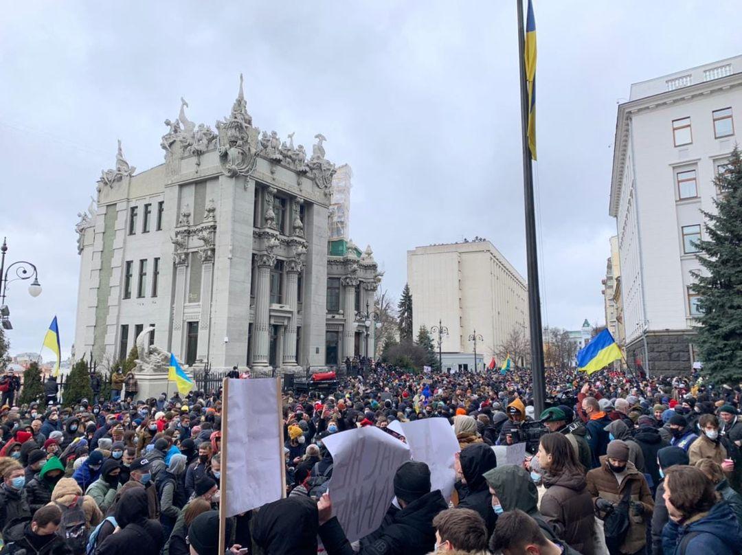 Акция в поддержку Стерненко на Банковой / facebook.com/vitaliy.shabunin