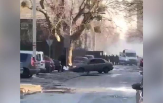 В Киеве стреляли по активистам у стройки / скрин видео