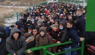 Сотни украинцев собрались на пункте пропуска Шегини / Facebook/Шегини – Медика пеший переход