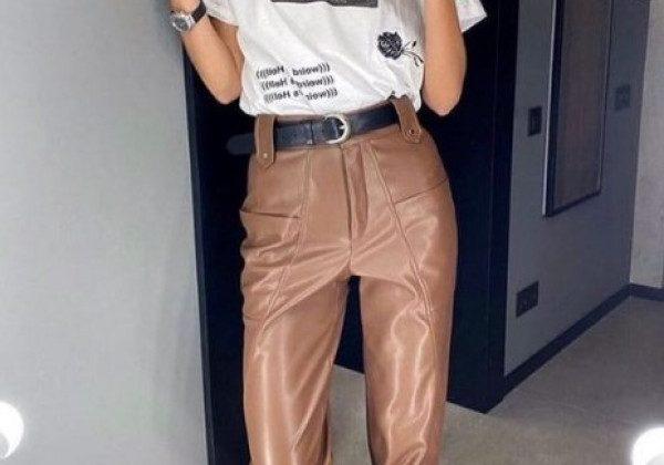 Кожаные брюки 2021
