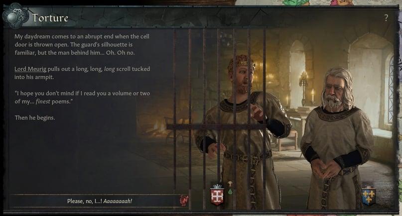 Поэзия для души – в Crusader Kings 3 появилась функция пытки стихами