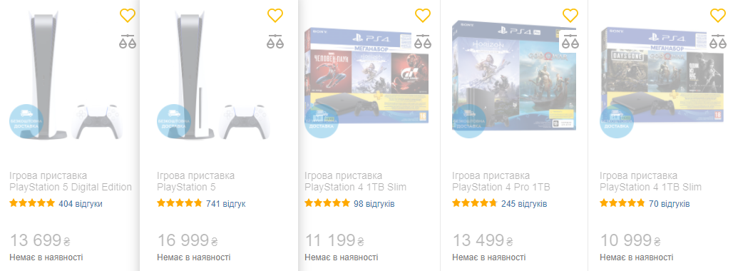 В украинских магазинах выросли цены на консоли PlayStation 4