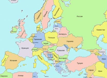 Британська газета двічі вказала Білорусь на карті Європи