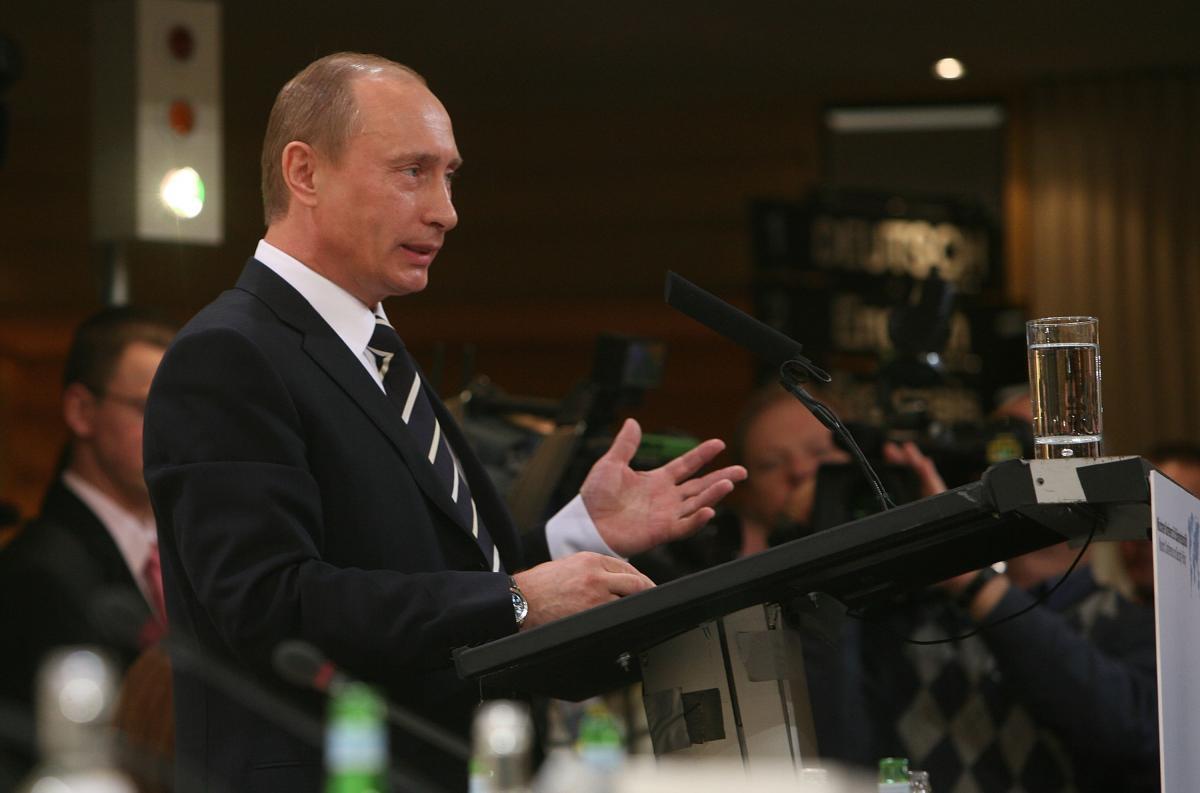 Владимир Путин на Мюнхенской конференции, 2007 год