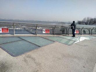 Скандальный мост в центре Киева снова пошел трещинами / Фейсбук С.Бригадира