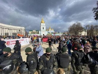 Марш женщин начался в центре Киева / Strana.ua
