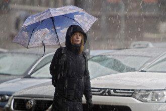 У низці українських областей завтра спрогнозовано мокрий сніг