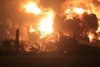 Пожар на заводе Pertamina