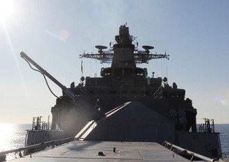 ВМФ России Модернизированный фрегат ТОФ Маршал Шапошников